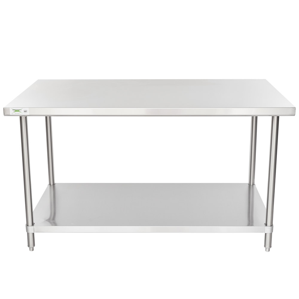 Regency Spec Line 36 inch x 60 inch 14 Gauge Stainless Steel Commercial Work Table with Undershelf