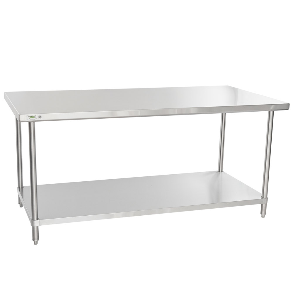 Regency Spec Line 36 inch x 72 inch 14 Gauge Stainless Steel Commercial Work Table with Undershelf