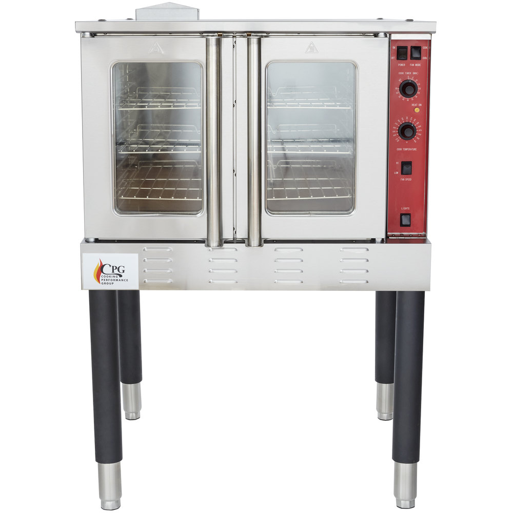 Liquid Propane Cooking Performance Group FGC100L Single Deck Full Size  Liquid Propane Convection Oven with Legs - 54,000 ...