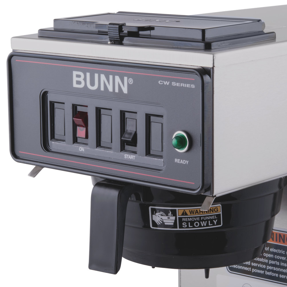 Bunn Coffee Maker No Plastic Parts : Bunn 23001.0003 CWT15-APS Airpot Brewer with Black Plastic Funnel and No Hot Water Faucet - 120V
