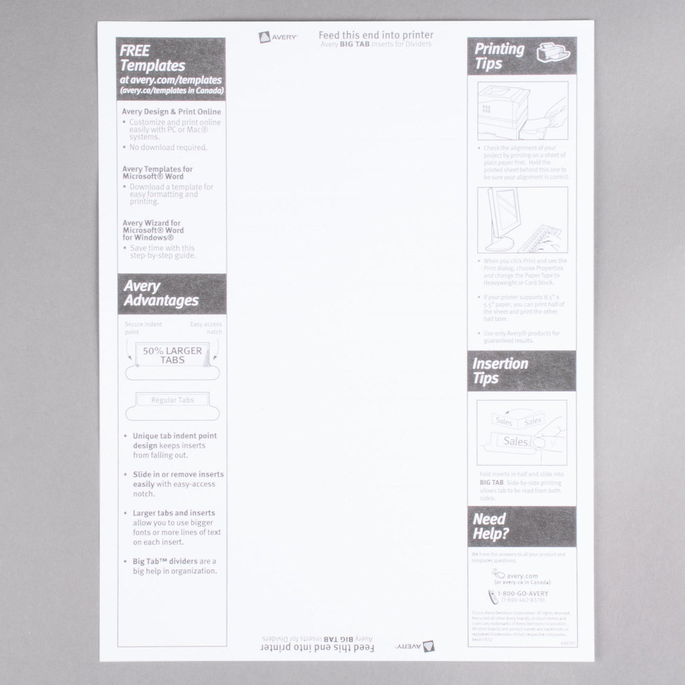 avery labels 5160 template blank