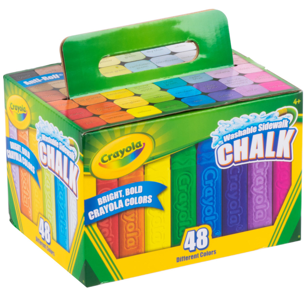 crayola 512048 48 assorted bright colors washable sidewalk