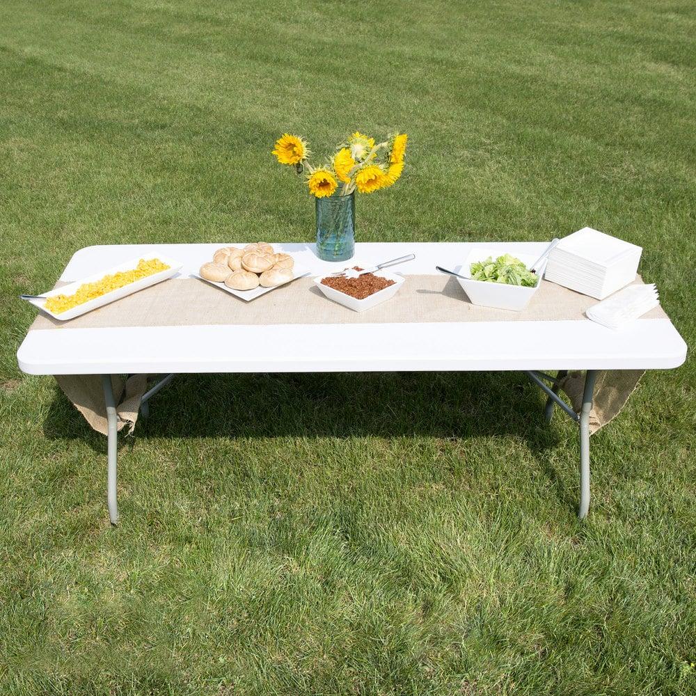 Folding Table 30 Quot X 72 Quot Heavy Duty Plastic White Granite