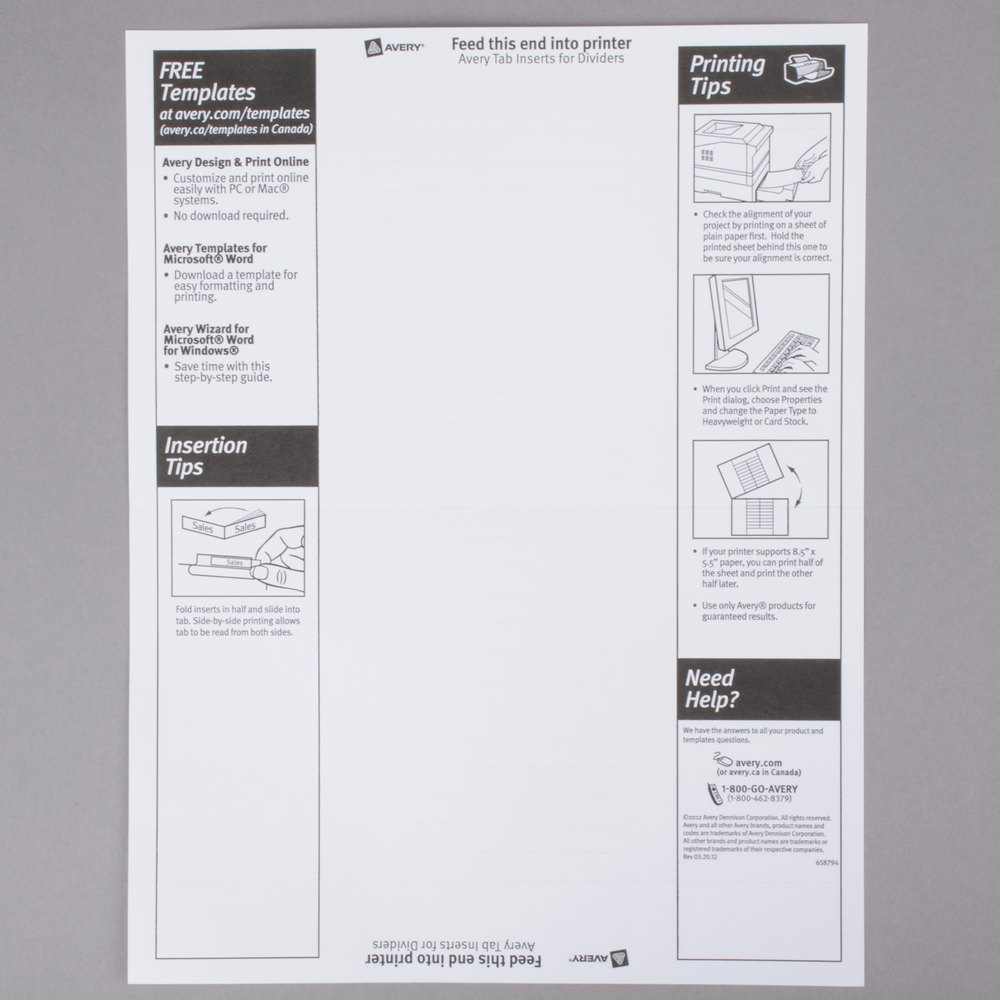 Avery 11102 mini worksaver 5 tab clear insertable tab dividers main picture image preview image preview reheart Image collections