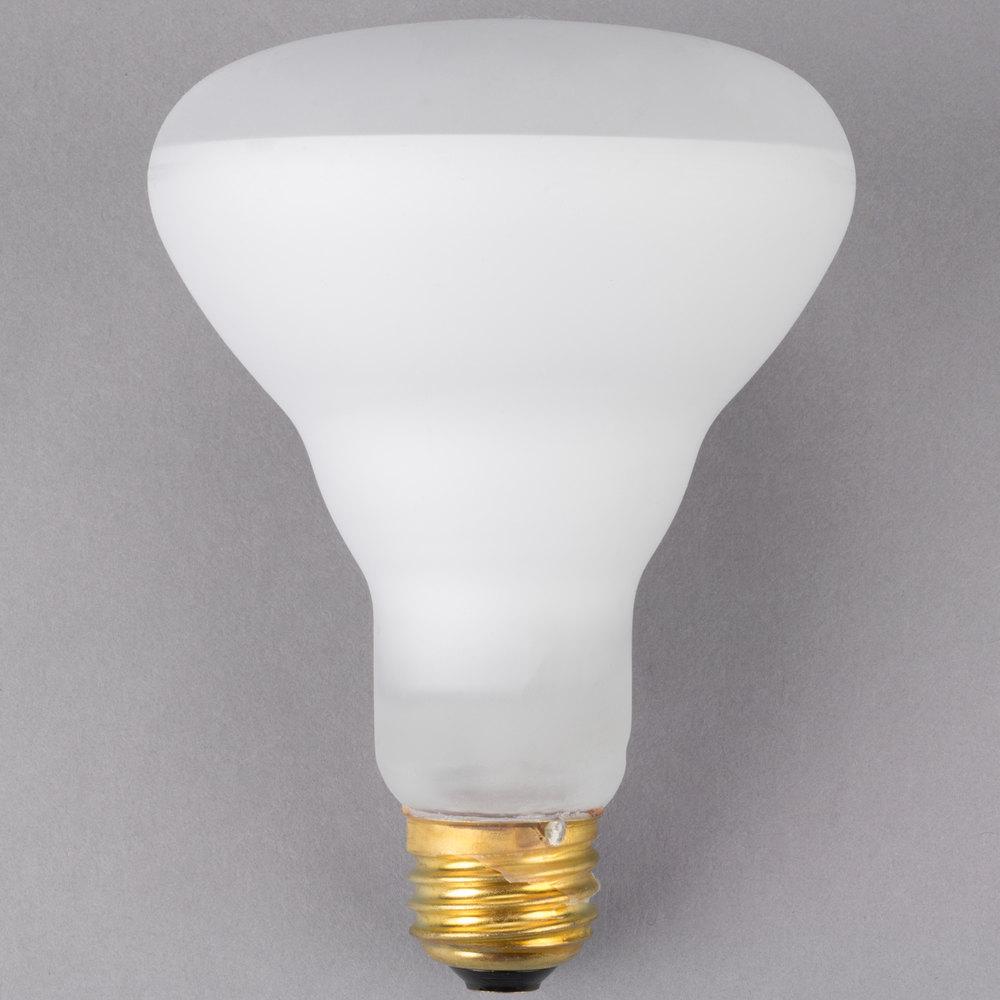 Carnival King PMBR65 65 Watt Frosted Shatterproof Flood Light Bulb - 120V