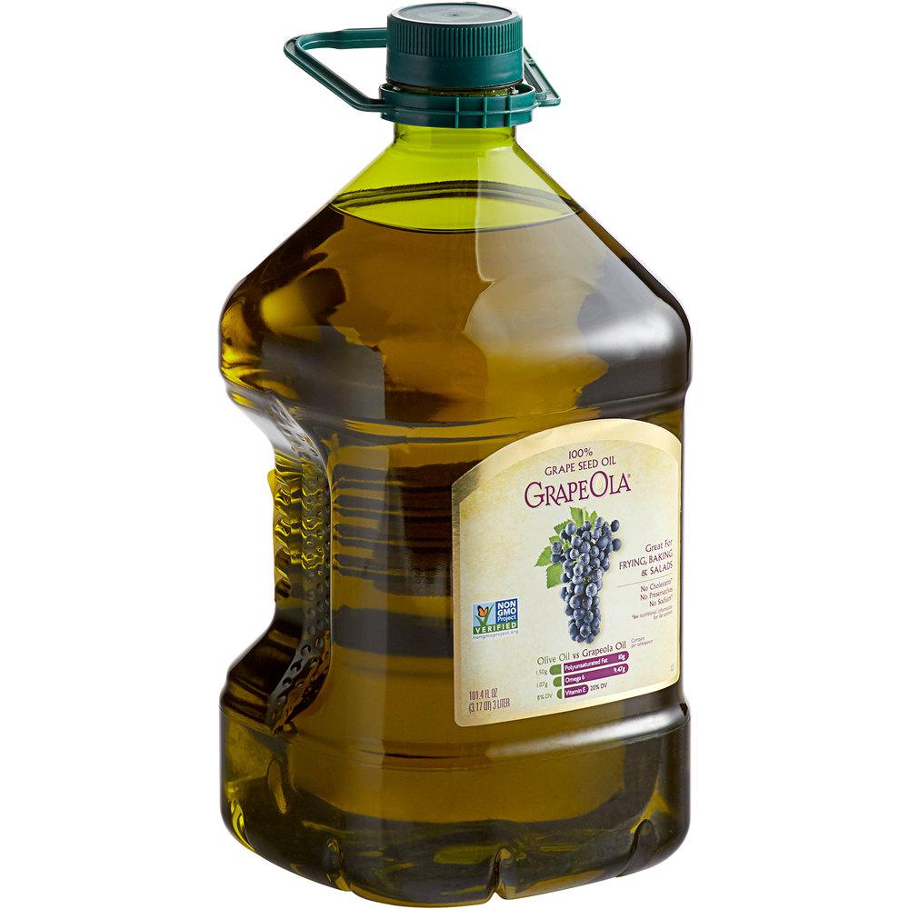 Jug of Grape Ola 100% grape seed oil
