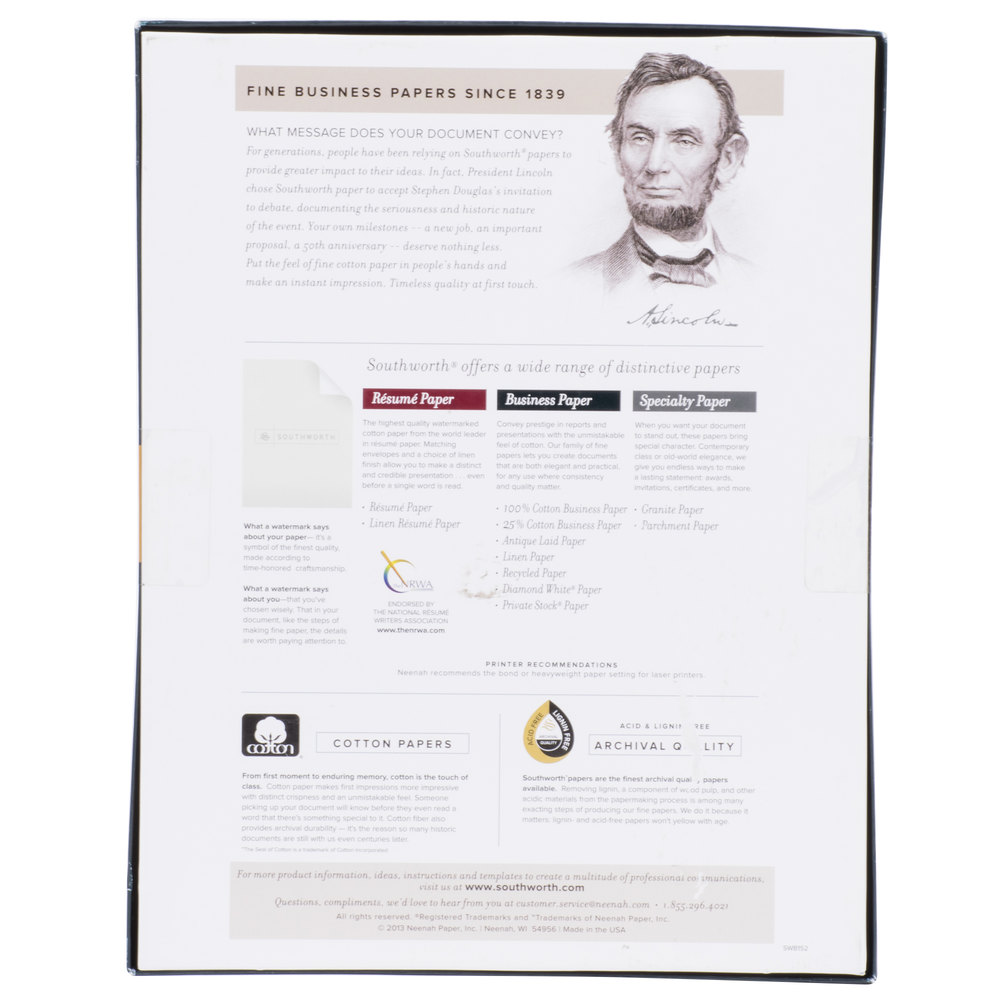 southworth business paper Southworth's collection of business papers is truly the finest papers available for professional offices of any size communicate in style with any of the cotton.