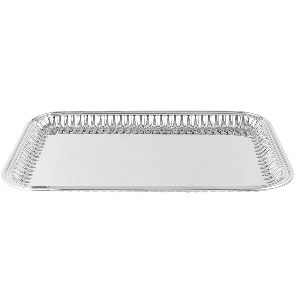 vollrath  esquire  x  rectangular fluted stainless  -  stainless steel tray main picture image preview image preview