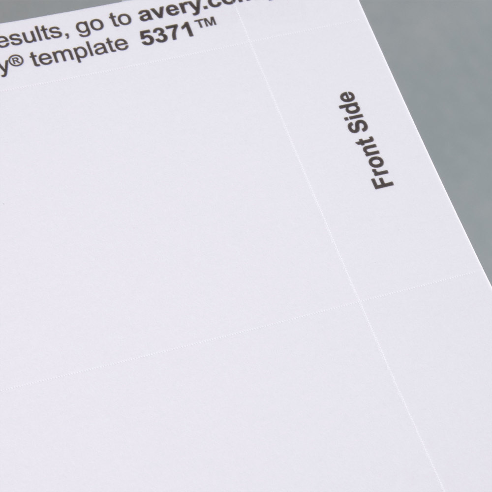 Avery 5371 2 x 3 12 uncoated white microperf business cards 250 image preview reheart Images