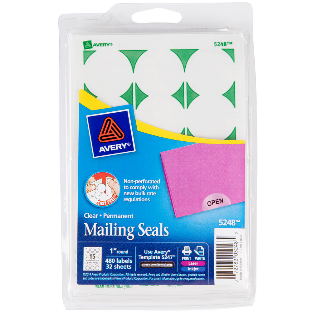 It's just a photo of Monster Clear Mailing Seal Labels
