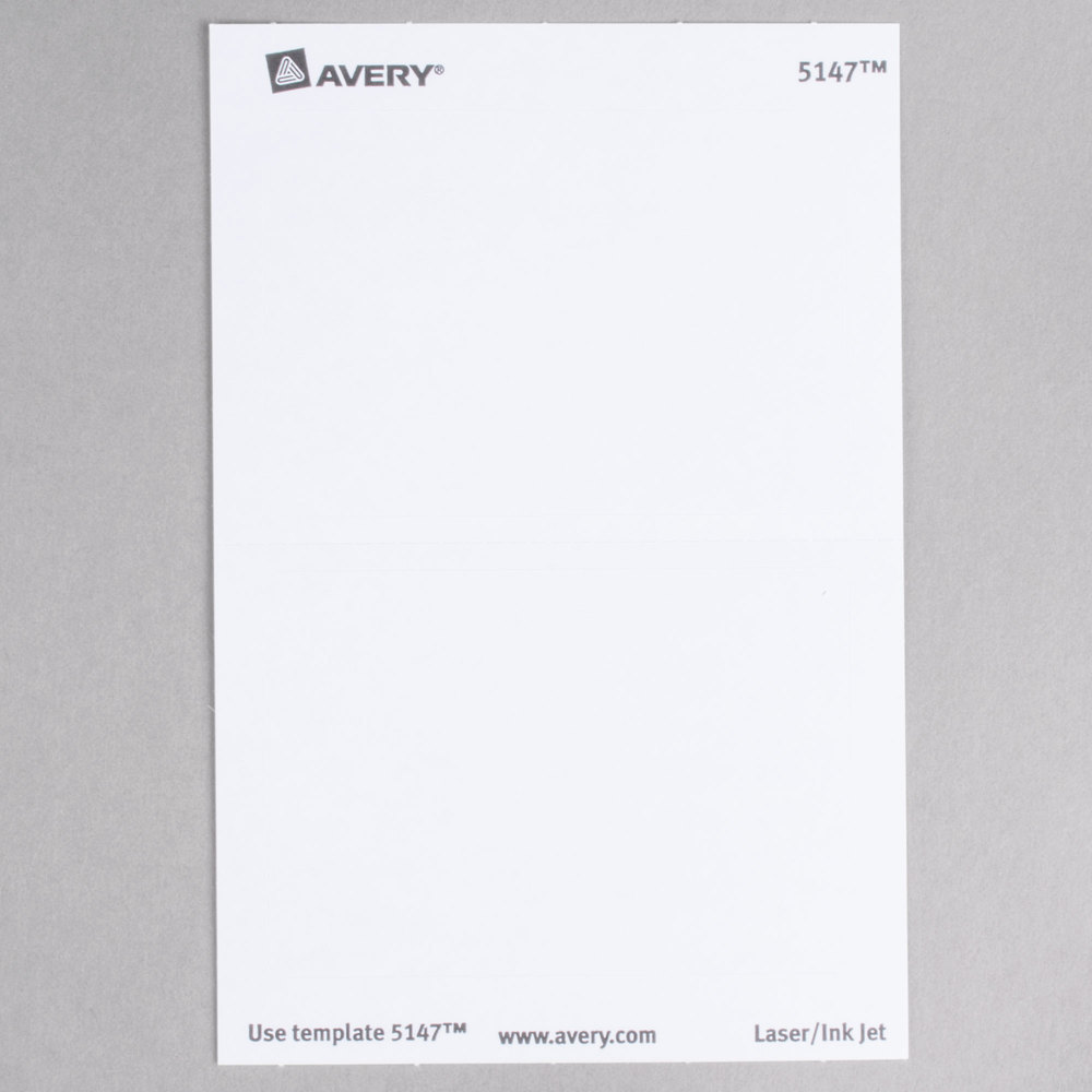 Avery 5147 2 13 x 3 38 white printable self adhesive name image preview pronofoot35fo Gallery