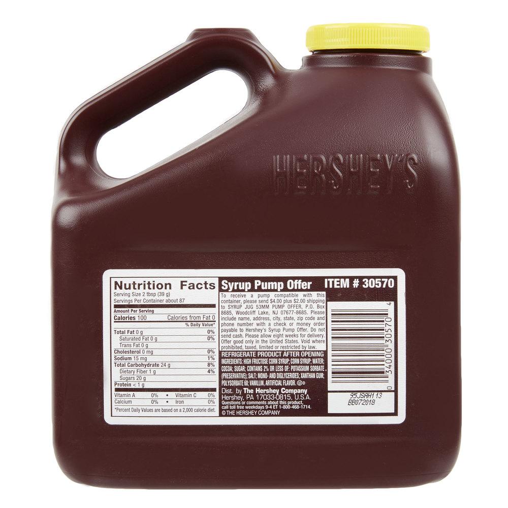 HERSHEY'S® Chocolate Syrup - 7.5 lb. Jug