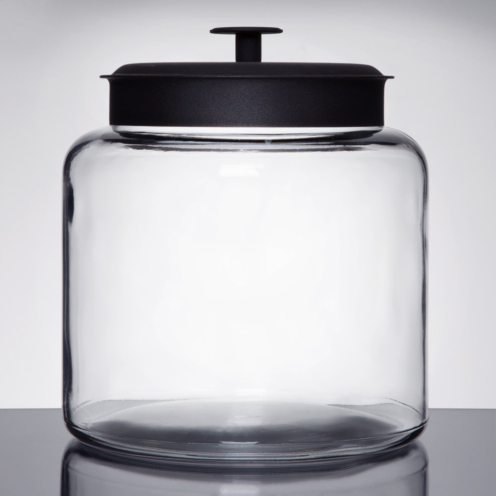 Anchor Hocking 88904 1 12 Gallon Glass Montana Jar with Metal Lid