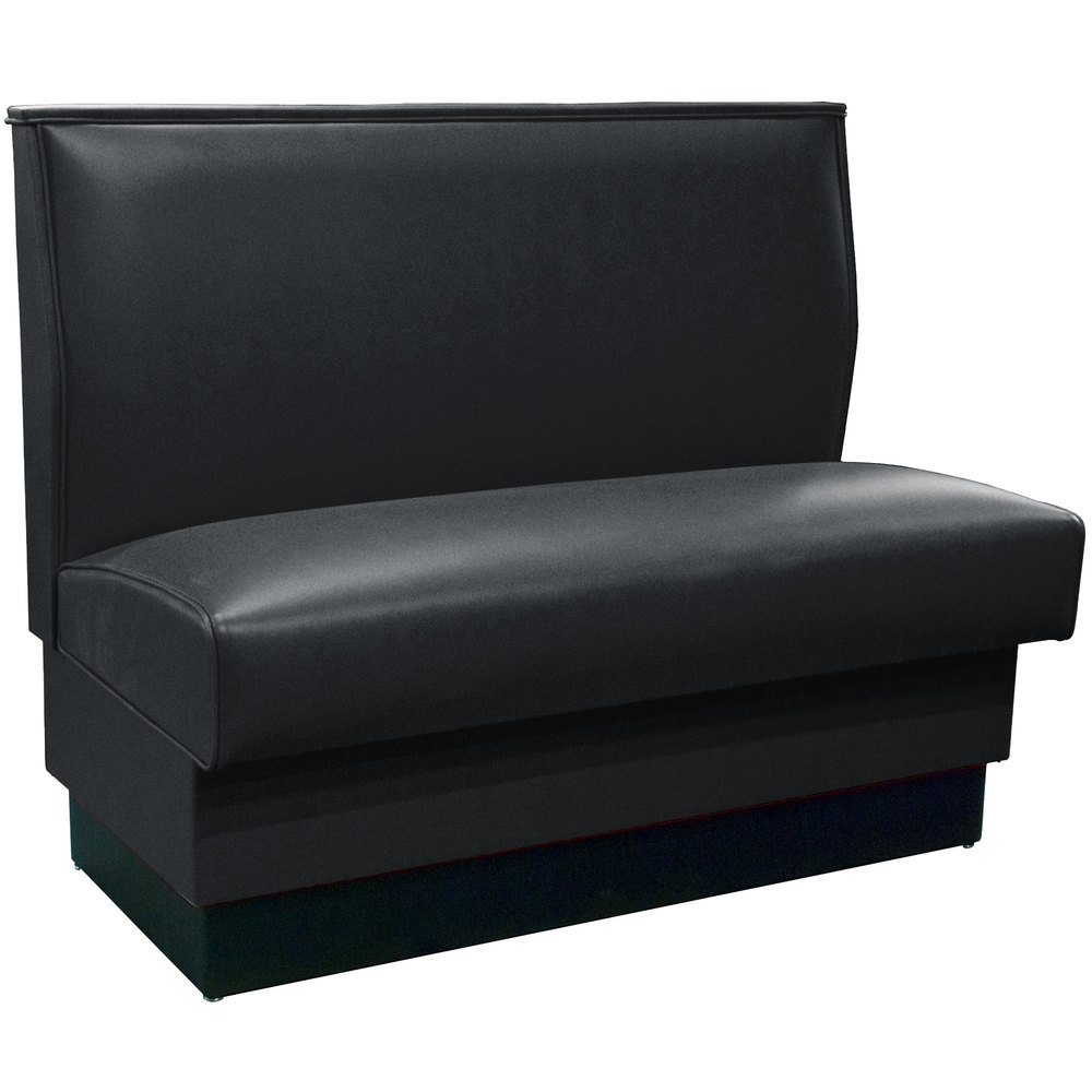 American Tables U0026 Seating QAS 36 36 Inch Black Plain Single Back Fully  Upholstered Booth