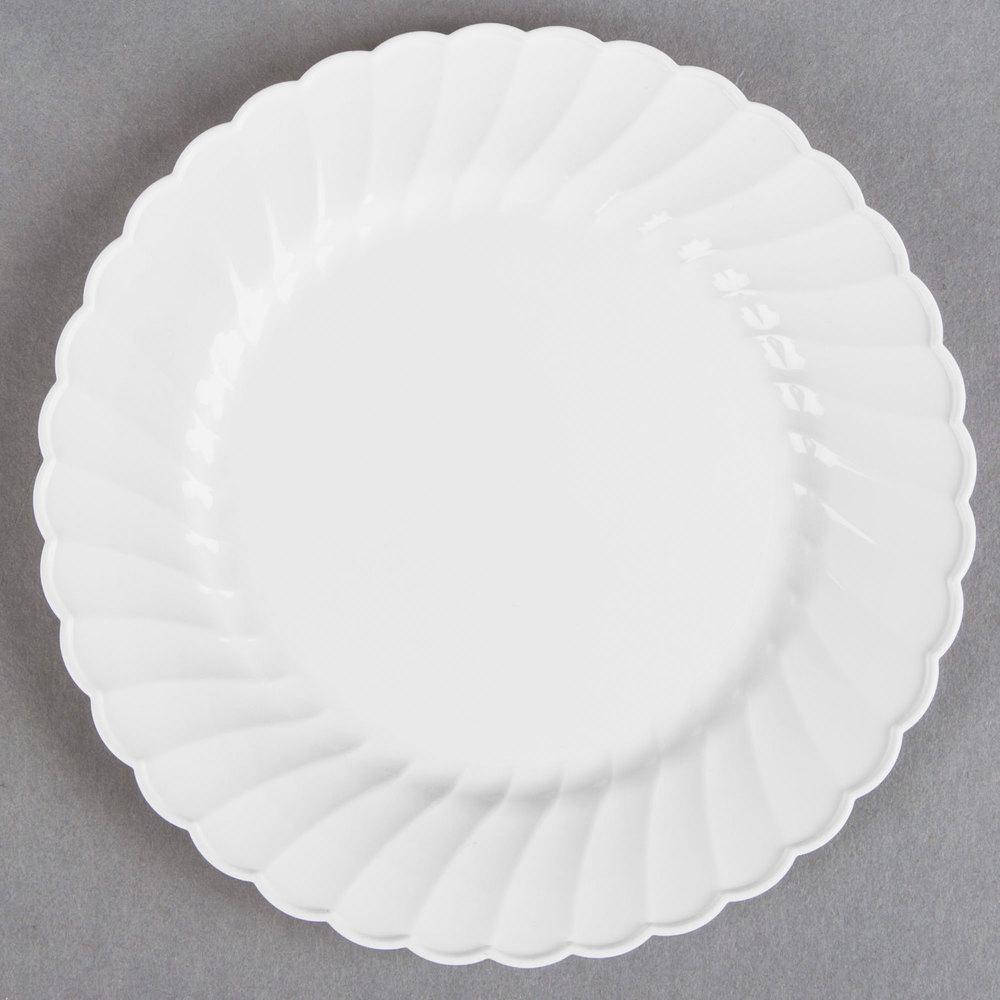 WNA Comet CW10144W Classicware 10 1/4 inch White Plastic Plate - 144/Case  sc 1 st  WebstaurantStore & Genpak 71000 Aristocrat 10 1/4\