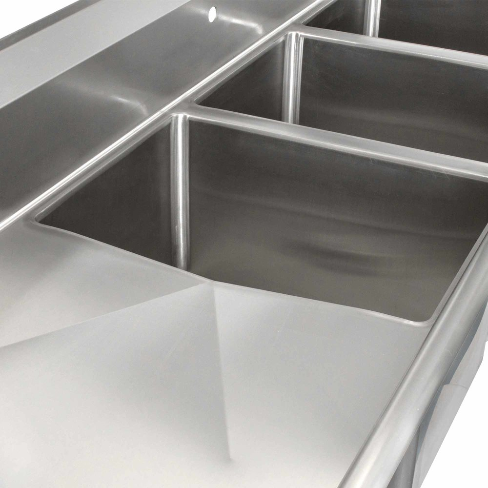 image preview - Three Compartment Kitchen Sink