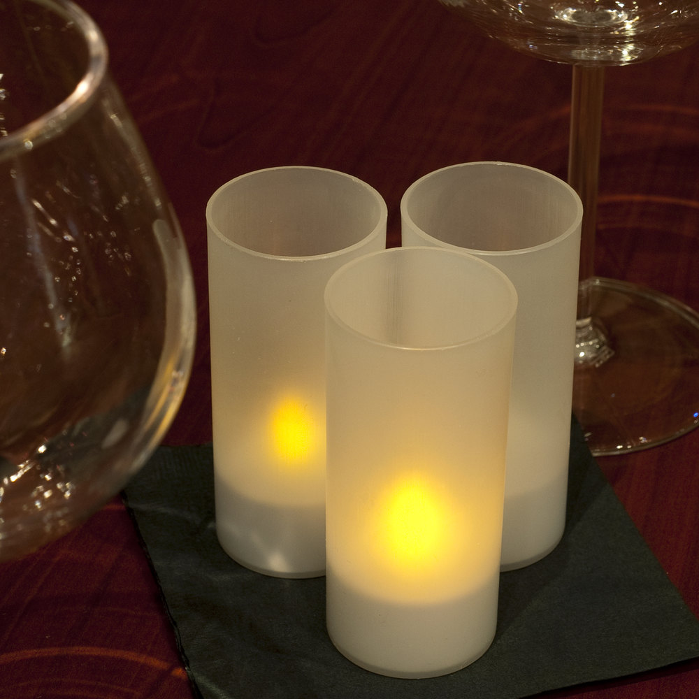 6 Piece Set Flameless Rechargeable Tea Light Candles With
