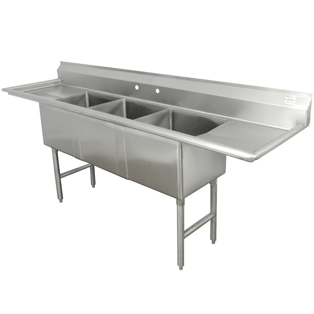 Advance Tabco Fc 3 1818 18rl Three Compartment Stainless
