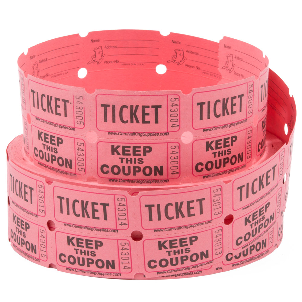 carnival king pink part raffle tickets roll image preview