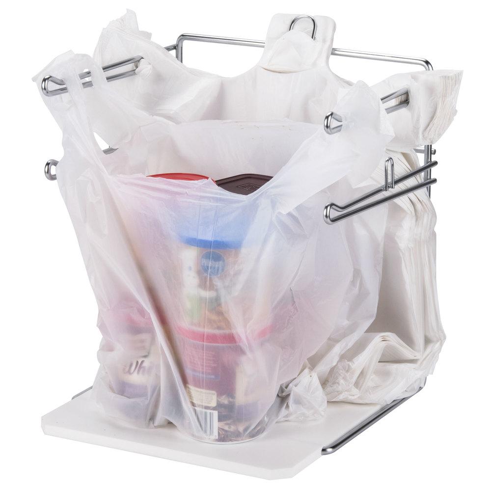 Chrome t shirt bag rack stand for Jumbo t shirt bags