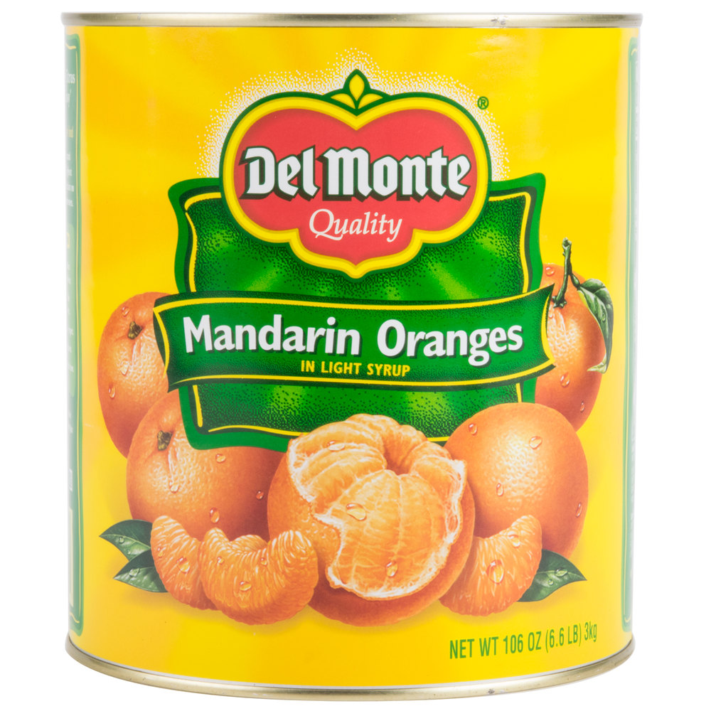 10 Can Whole Mandarin Oranges in Light Syrup - 6/Case