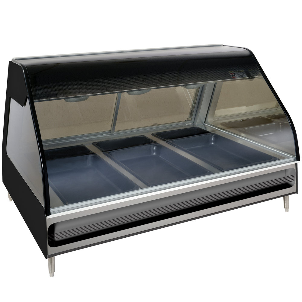 ... Display Case Curved Glass Full Service - Countertop with Legs 48