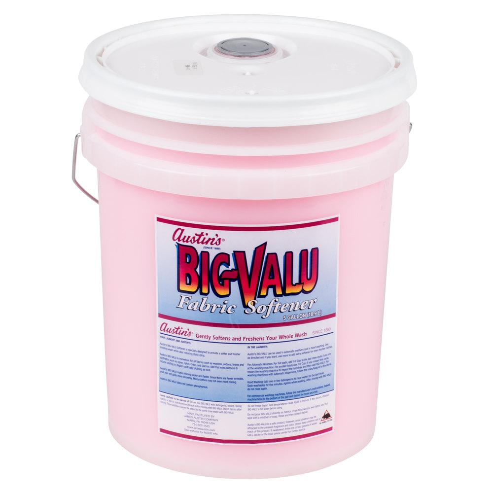 James Austin S Big Valu Pink Fabric Softener 5 Gallons