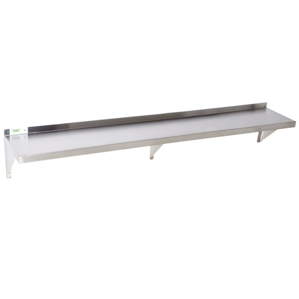regency 18 gauge stainless steel 12 inch x 84 inch solid wall shelf