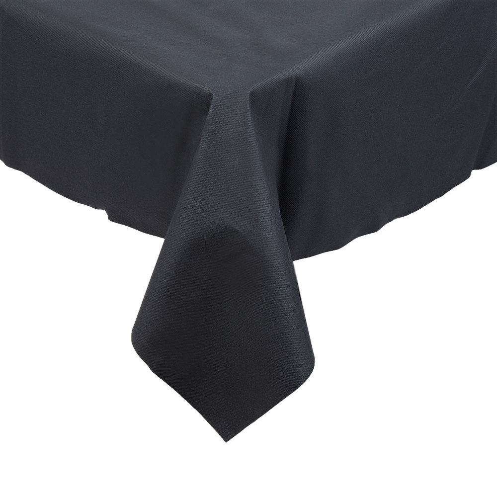 Attirant Hoffmaster 210435 82 Inch X 82 Inch Linen Like Black Table Cover   12/ ...