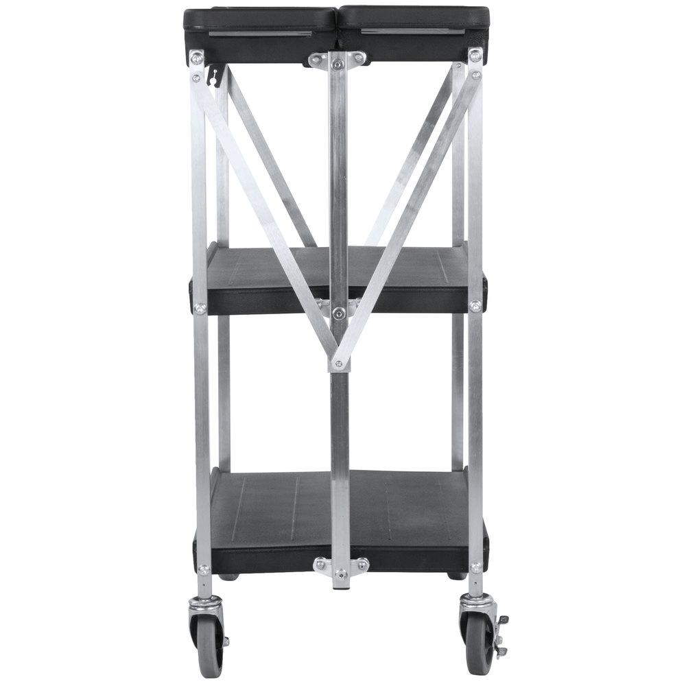 Carlisle sbc152103 fold 39 n go 15 x 21 black folding utility cart - Desserte plancha ikea ...