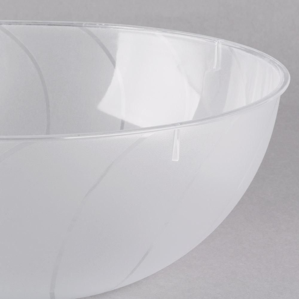 fineline 3502 cl platter pleasers 2 gallon 8 qt clear plastic round bowl 12 case. Black Bedroom Furniture Sets. Home Design Ideas
