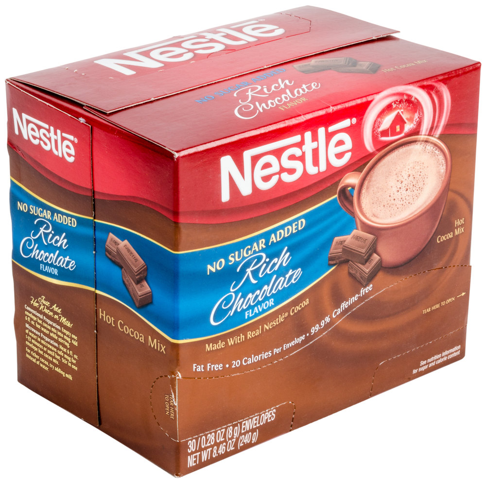 Hot chocolate no sugar added