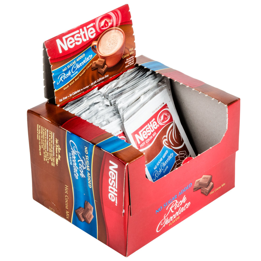 Nestle No Sugar Added Hot Chocolate Mix - 30/Box