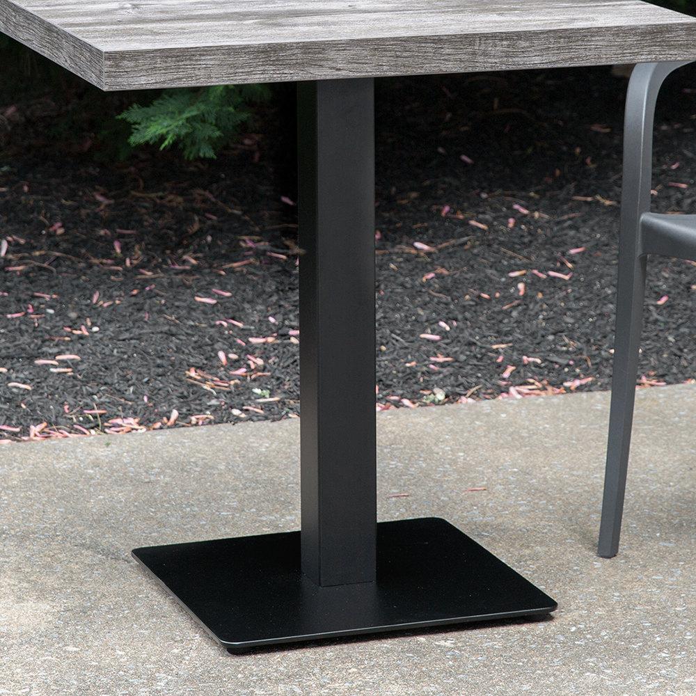 """Grosfillex US Contemporary 18"""" Square Black Indoor Pedestal"""