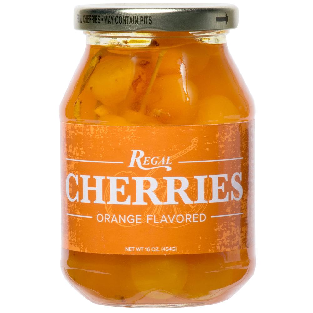 regal 16 oz orange maraschino cherries with stems. Black Bedroom Furniture Sets. Home Design Ideas