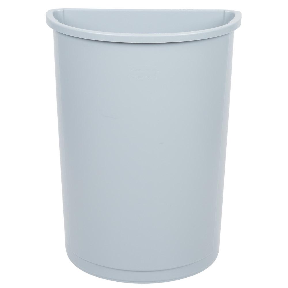 Half Round Trash Cans   WebstaurantStore