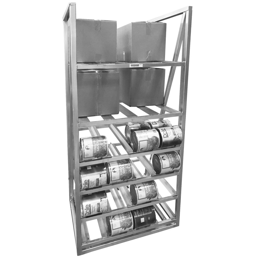 Number ten cans for sale - Channel Csbr 80 Full Size Stationary Aluminum Can And Storage Rack For 10 Cans