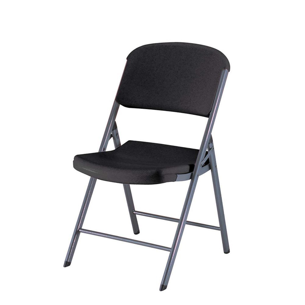Lifetime 80187 Black Contoured Folding Chair 4 Pack