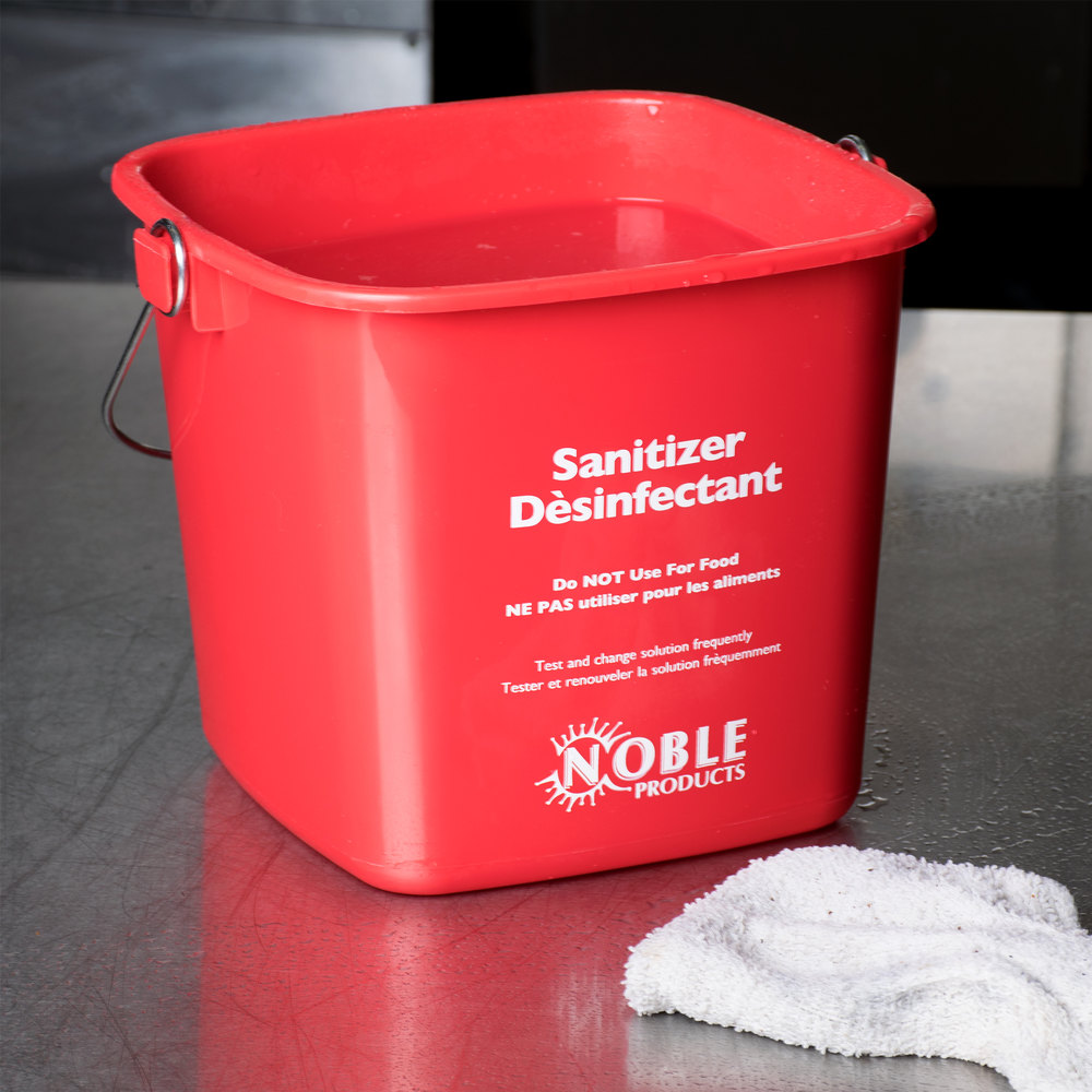 Noble Products 3 Qt Red Sanitizing Pail Noble Products