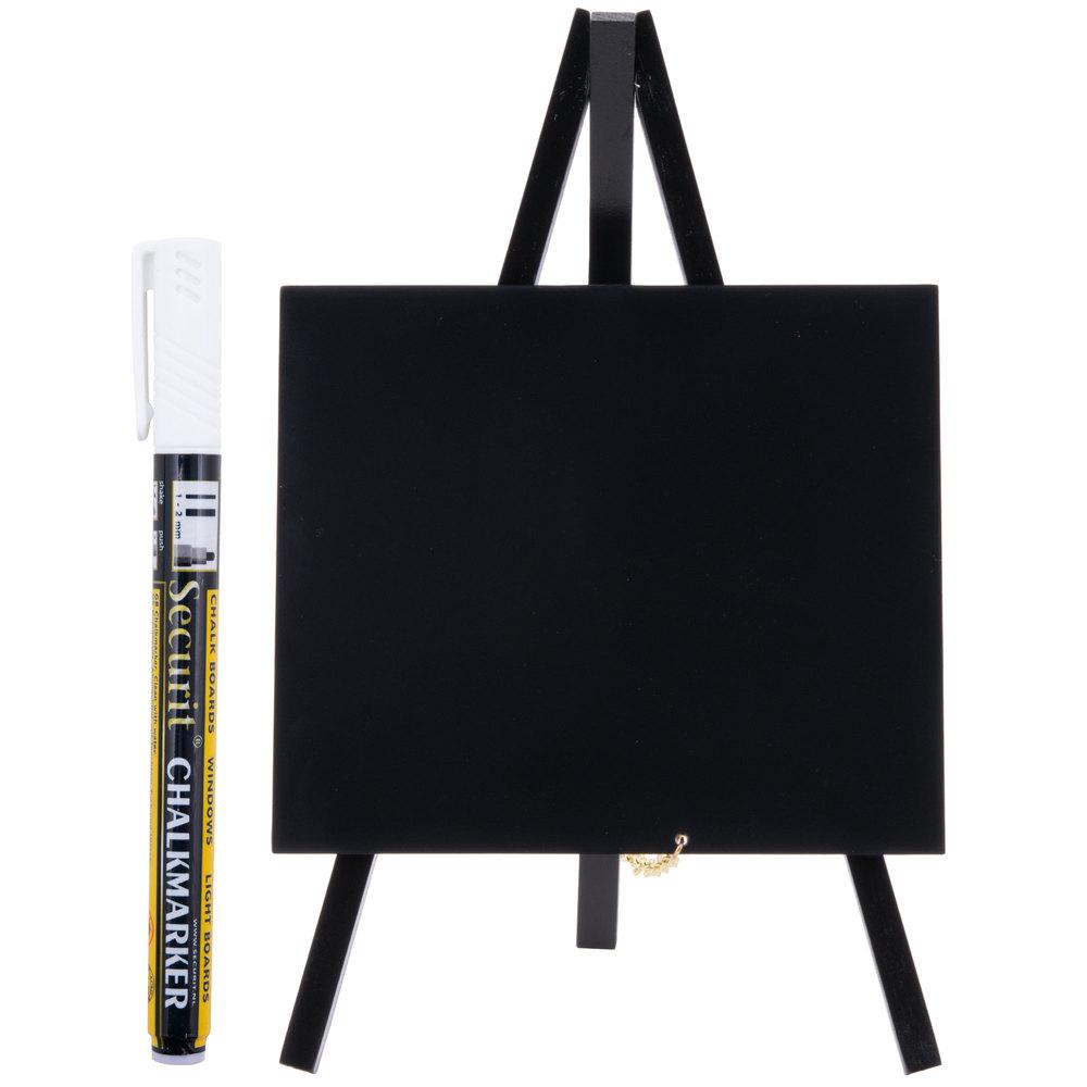 Awesome American Metalcraft MNIBLKR1 Black 6 Inch X 10 Inch Mini Tabletop Chalkboard  ...