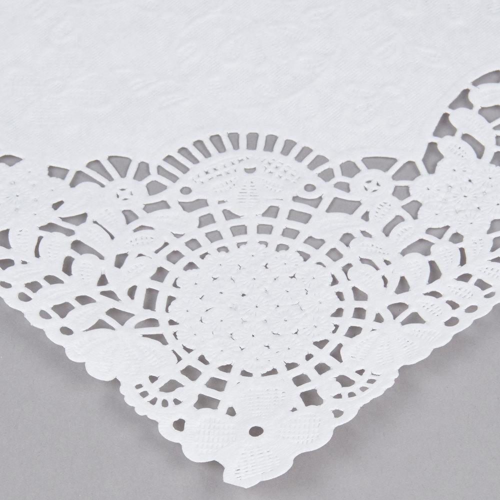10 u0026quot  x 14 u0026quot  white floral lace paper placemat  case
