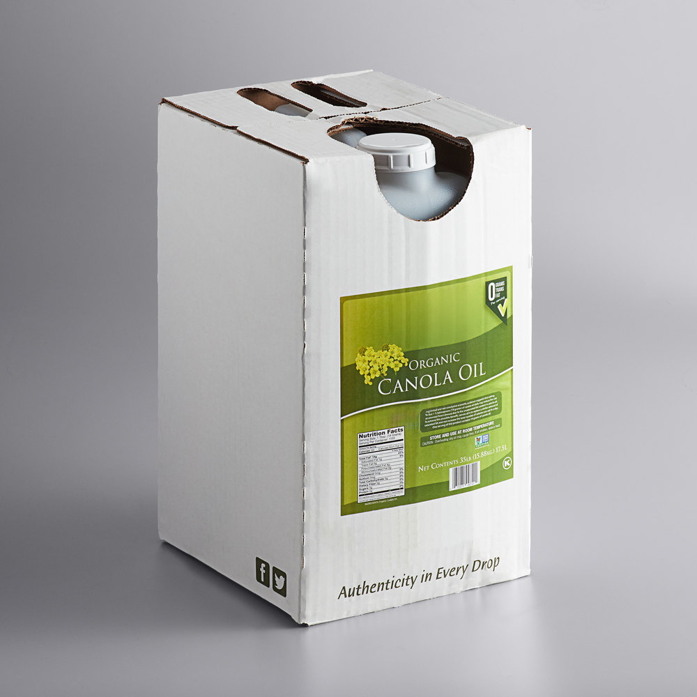 Box of Organic canola oil