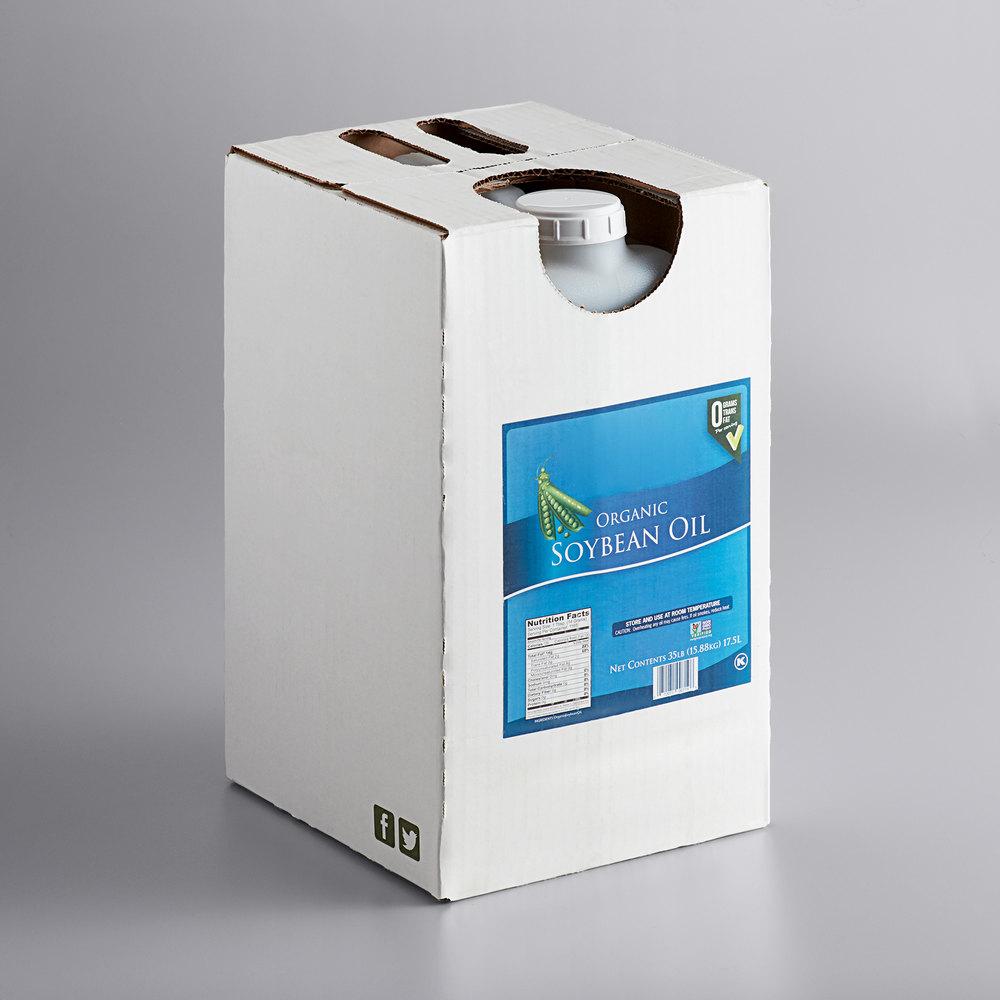 Box of Organic soybean oil