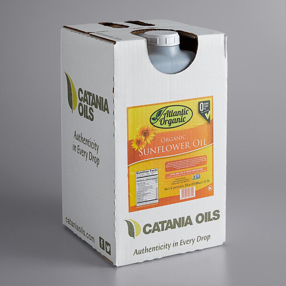 Box of 100% Atlantic Organic organic sunflower oil