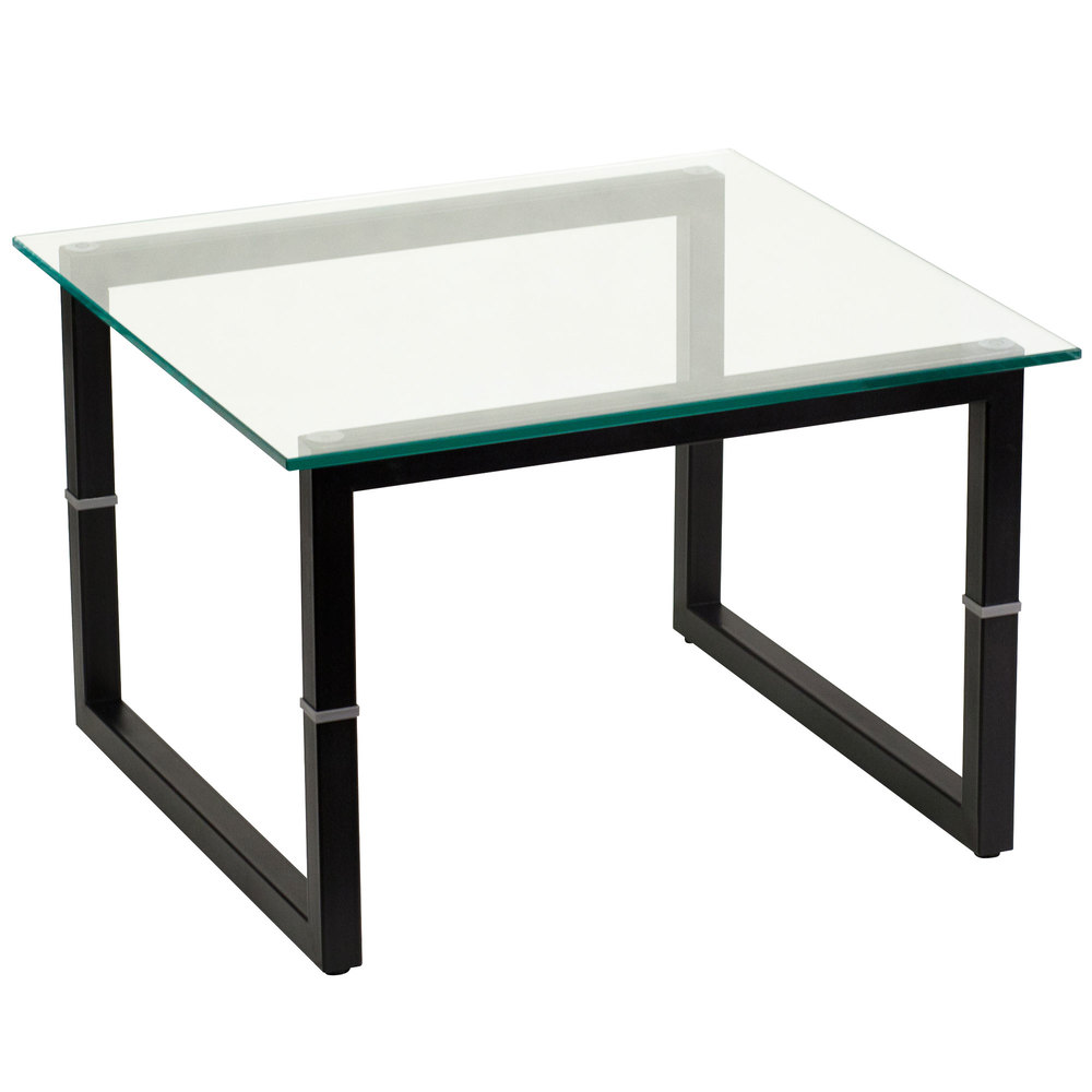 Flash Furniture FD END TBL GG 23 5/8 Inch Square Black