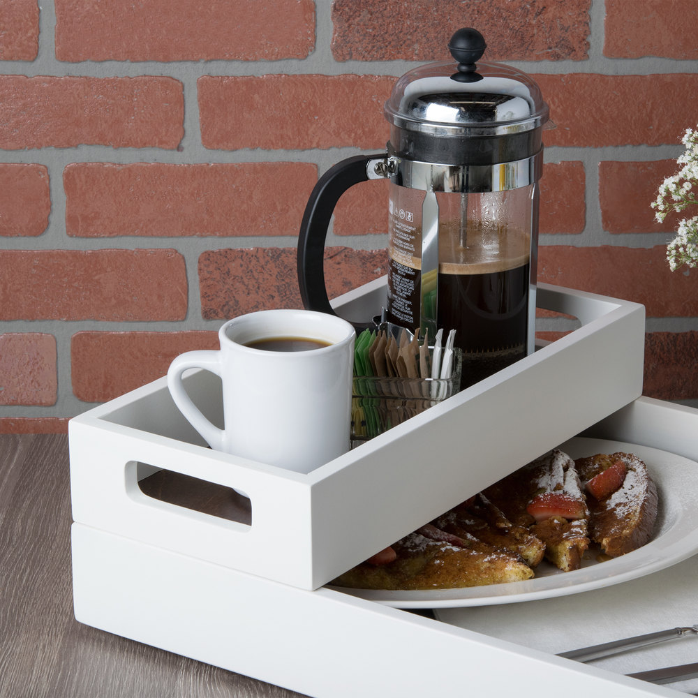 Room Service: Cal-Mil 3591-15 Stackable Two-Tone Room Service Tray
