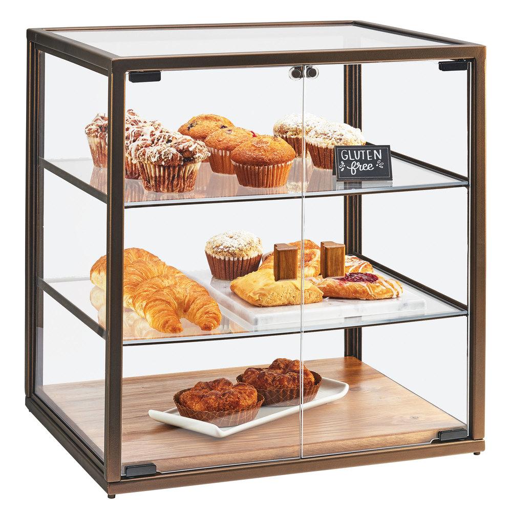 Cal Mil 3610 3 Tier Vintage Bakery Display Case With Wood