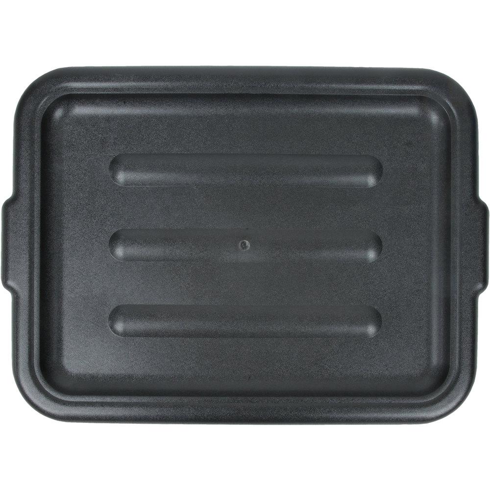 20 Quot X 15 Quot Polyethylene Plastic Bus Tub Bus Box Lid Black