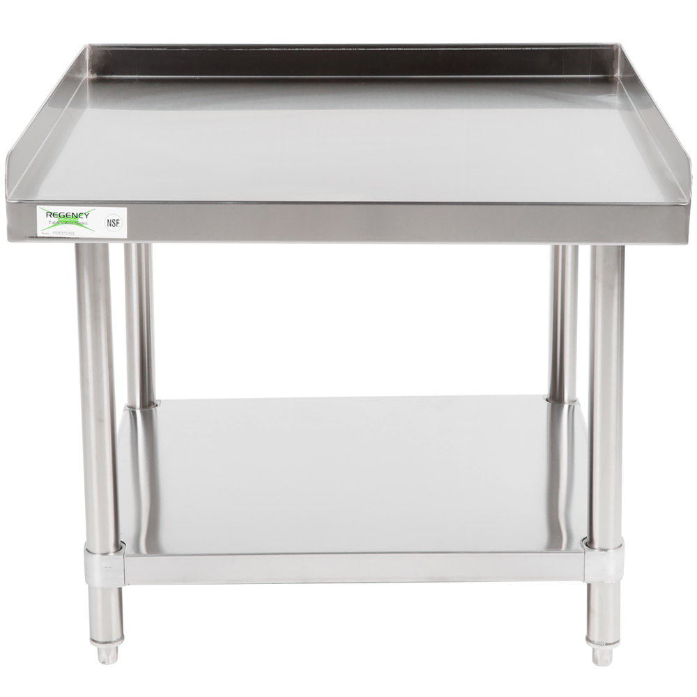 Regency 30 inch x 30 inch 16-Gauge Stainless Steel Equipment Stand with Undershelf