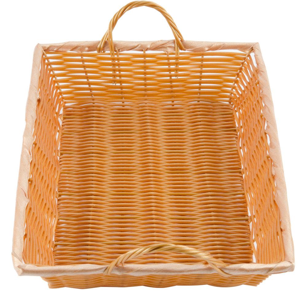 16 x 11 x 3 rectangular woven basket with handles. Black Bedroom Furniture Sets. Home Design Ideas